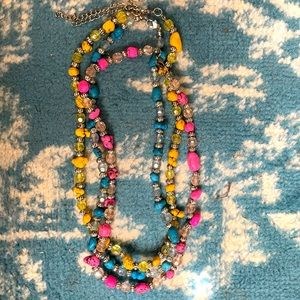 Three crystal and stone necklaces NWT